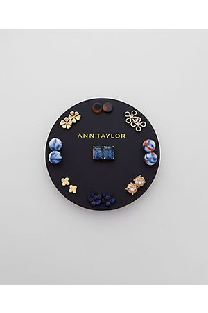 ANN TAYLOR Floral Gem Stud Earring Set