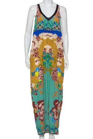 Etro Printed Silk Sleeveless Maxi Dress M