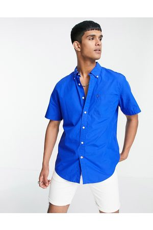 Tommy Hilfiger Men Short sleeves - Maxwell short sleeve shirt-Blues
