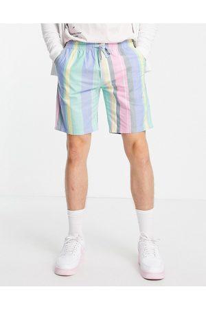 Tommy Jeans Pastel capsule varied stripe shorts in romantic