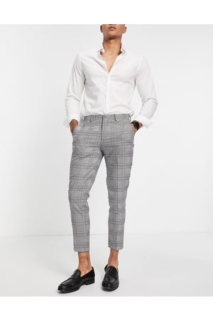 SELECTED Skinny fit suit pants in check