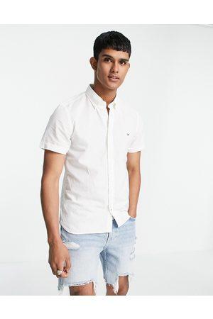 Tommy Hilfiger Slim cotton linen long sleeve shirt