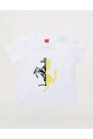 FERRARI Short Sleeve - Infant Pima cotton jersey T-shirt with Prancing Horse