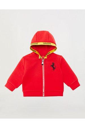FERRARI STORE Sweatshirts - Infant hooded sweatshirt with logo tape