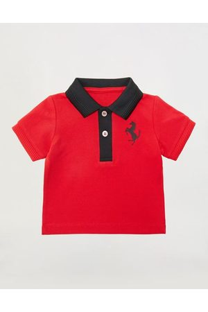 FERRARI STORE Polo Shirts - Infant pique cotton polo with contrasting details