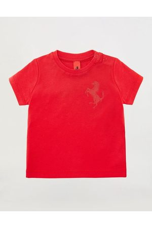 FERRARI STORE Short Sleeve - Infant Pima cotton jersey T-shirt with Prancing Horse