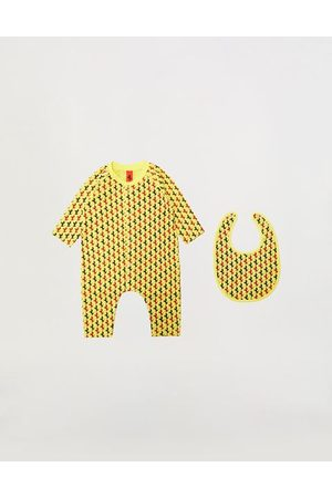 FERRARI STORE Rompers - Infant onesie and bib set with Prancing Horse