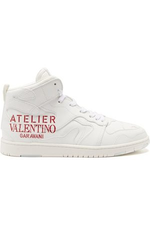 VALENTINO GARAVANI Men Sneakers - Atelier Valentino Camouflage Leather Trainers - Mens