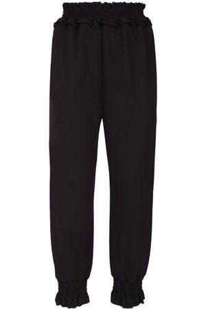 Simone Rocha Shirred High-rise Jersey Trousers - Womens