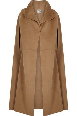 Totême Camel wool-blend cape