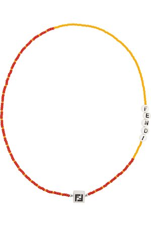 Fendi Men Necklaces - Orange & Red Beaded 'Forever ' Necklace