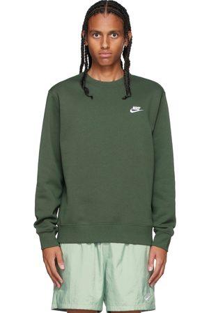 Nike Men Sports Hoodies - Green Sportswear Club Sweatshirt