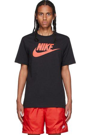 Nike Black & Red Icon Futura T-Shirt