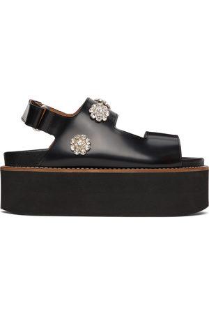 GANNI Black Polido Deco Platform Sandals