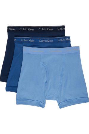 Calvin Klein Three-Pack Blue Classic Fit Boxer Briefs