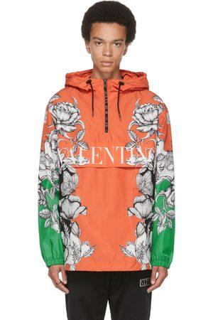 VALENTINO Orange & Green Dark Blooming Logo Pullover