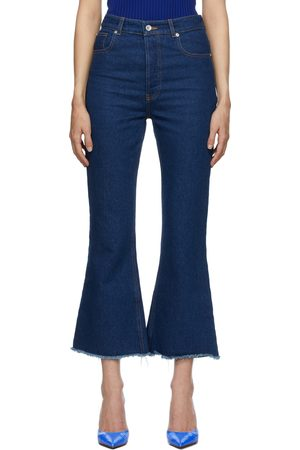 Paco rabanne Women Flares - Blue Flared Frayed Jeans