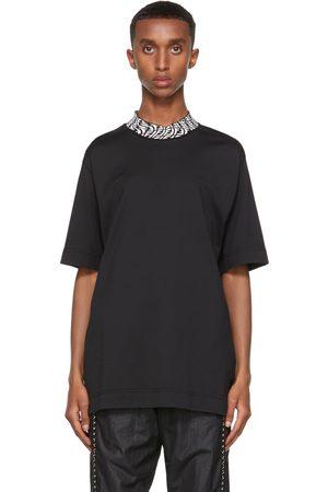 Fendi Black Vertigo 'Forever ' Collar T-Shirt