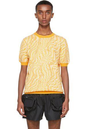 Fendi Yellow Knit FF Vertigo T-Shirt