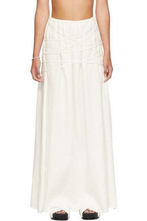 SIR White Organic Linen Cleide Skirt