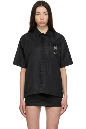 1017 ALYX 9SM Black Satin Buckle Shirt
