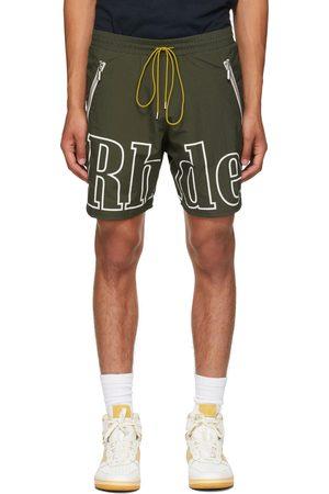 Rhude Men Shorts - Green Logo Short