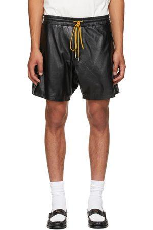 Rhude Black Leather Ciesta Shorts