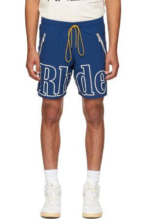 Rhude Blue Logo Shorts
