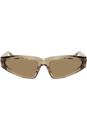 Bottega Veneta Brown Modified Cat-Eye Sunglasses
