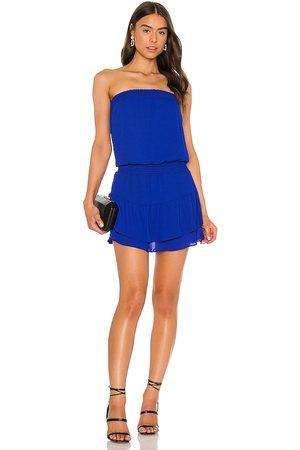 krisa Smocked Strapless Mini Dress in Blush.