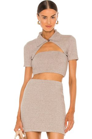 Lovers + Friends Ivana Top in Taupe.