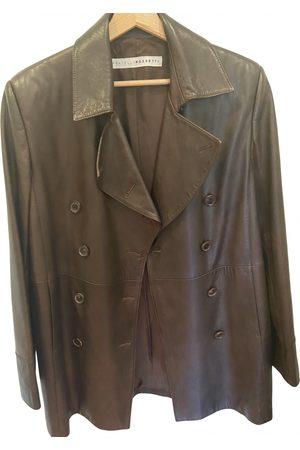 Fratelli Rossetti Leather peacoat