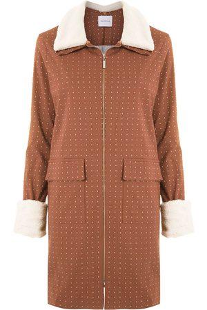 Olympiah Women Trench Coats - Horse trench coat