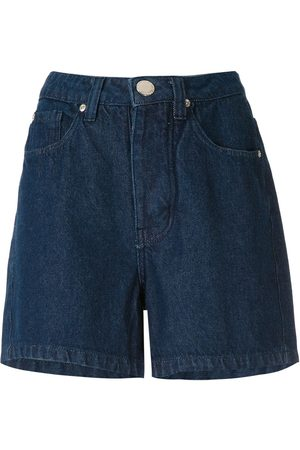 Olympiah Demin straight shorts