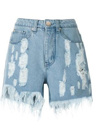 Olympiah Ripped denim shorts