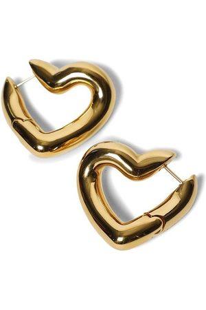 Balenciaga Women Earrings - Shiny -tone Loop Heart Earrings