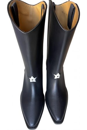 Dior Leather western boots