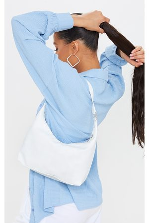 PRETTYLITTLETHING Woven Rounded Shoulder Bag