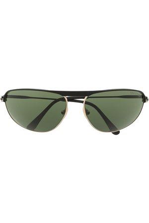 Tom Ford Aviator-frame metal sunglasses