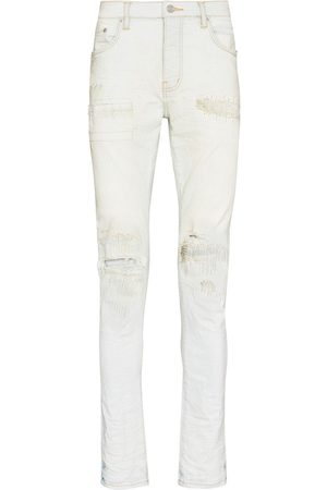 Purple Brand Low-rise slim-fit washed-down jeans - Neutrals