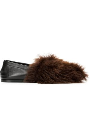 Altuzarra Fur-detail flat slippers