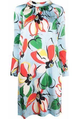 TALBOT RUNHOF Floral-print shift dress