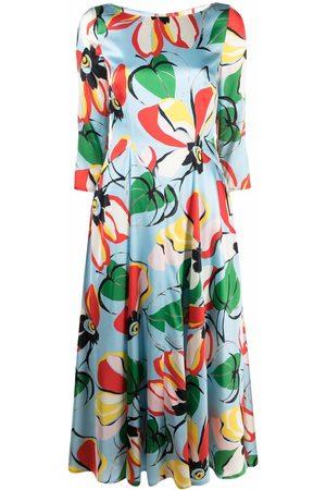 TALBOT RUNHOF Floral-print dress