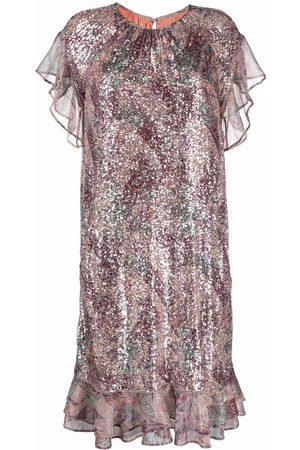 TALBOT RUNHOF Sequin-embellished shift dress