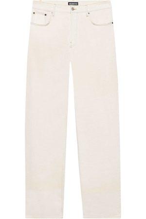 Balenciaga Mid-rise wide-leg jeans - Neutrals