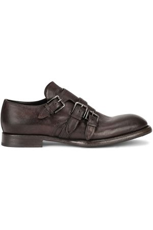 Dolce & Gabbana Distressed-effect monk strap shoes