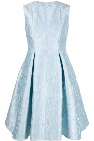 Talbot Runhof Floral flared midi dress