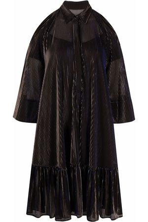 TALBOT RUNHOF Women Dresses - Cold-shoulder flared silk dress