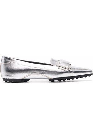 Sergio Rossi Sr Twenty metallic-effect loafers
