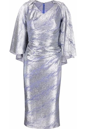 TALBOT RUNHOF Metallic-effect midi dress